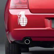 Grenade car decals