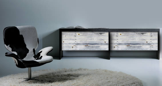 Grey Reclaimed Wood Decals Dry Erase Furniture Skins