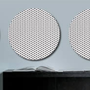 Grid Dots Circles metal wall clings