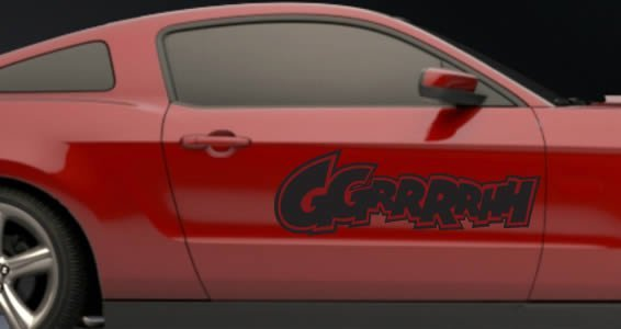 Ggrrrrhh car decals