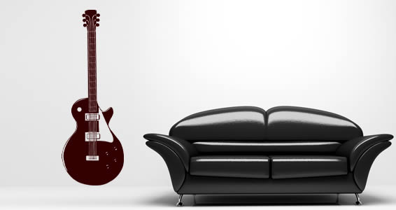 Jazzy Guitars vinyl wall art