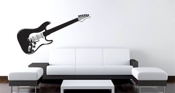 Rock My Guitar Removable Wall Decals