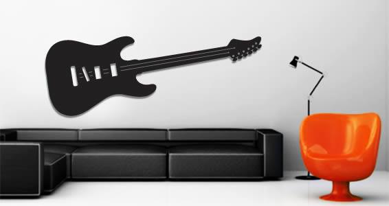 Guitar wall appliques