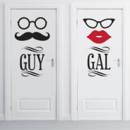 Guy Gal Sassy Room decals