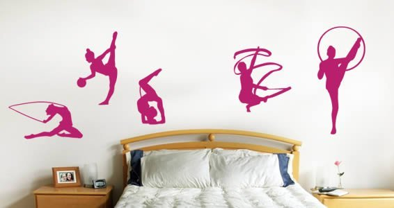 Gymnastic Team wall decals