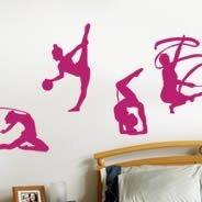 Gymnastic pack wall decals