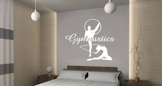 Elegant Gymnastics Wall Decals