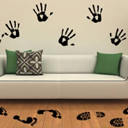 Feet and Hands Prints decals