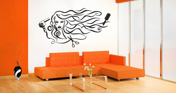 Hair & Style wall decals