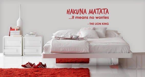 Hakuna Matata quote decals