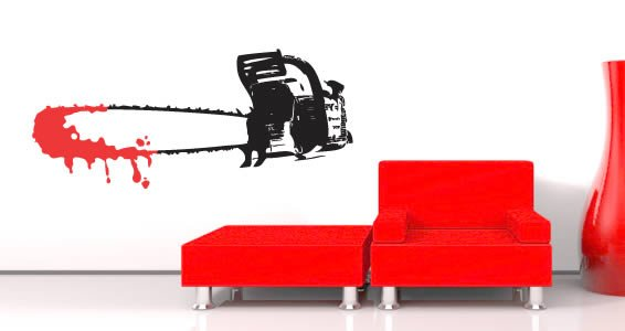 Halloween Chainsaw wall decals