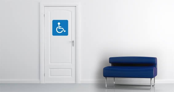 Handicap Sign decal