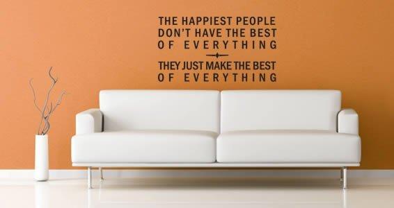 Happiest People quote decals