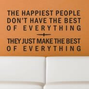 Happiest People quote decals