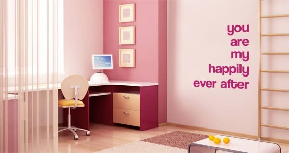 Happily Ever After wall decal quote