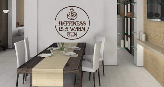 Happy Bun quote wall sticker