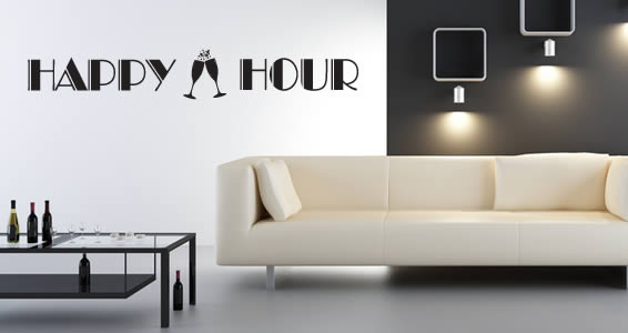 Happy Hour wall decals