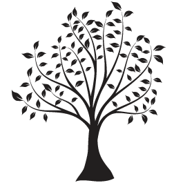 Happy tree wall decals dezign with a z for Black and white tree mural