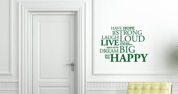Have Hope quote decal