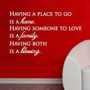 Having quote wall sticker