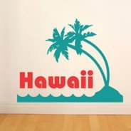 Hawaii wall decals