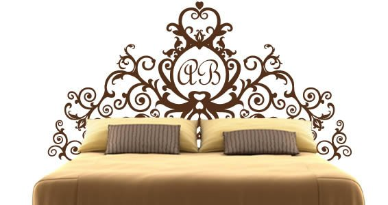 Monogram Royal headboard wall decals  sc 1 st  Dezign With a Z & Monogram Royal headboard wall decals | Dezign With a Z