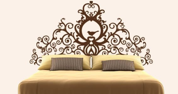 Nice Grand Royal Headboard Wall Decal