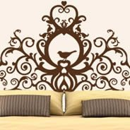 Grand Royal Headboard wall decal
