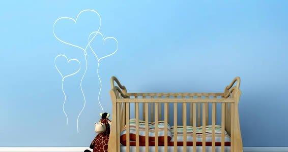 Heart Balloons Decals