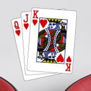 Hearts Playing Card wall decal