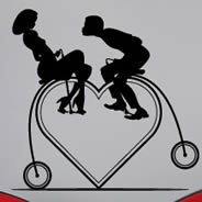Heart Cycle wall stickers by Thomas Fuchs