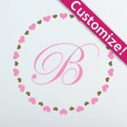 Hearts Art Monogram Wall Decals