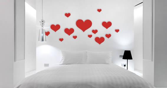Hearts wall appliques