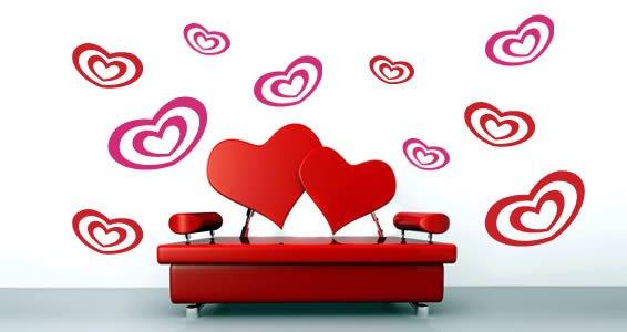 Cutie Hearts...vinyl wall decals
