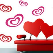 Cutie Hearts...vinyl wall decals