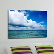 Heavenly Horizon framed canvas