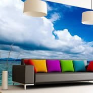Heavenly Horizon vinyl wall mural