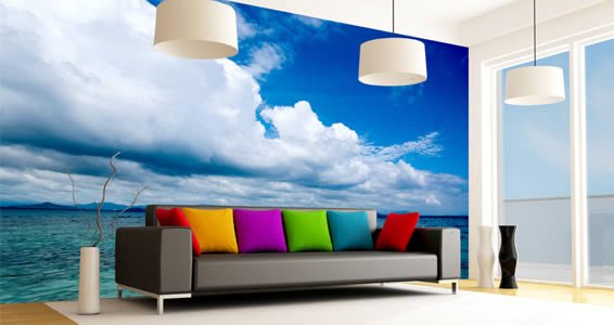 Heavenly Horizon vinyl wall mural Dezign With a Z