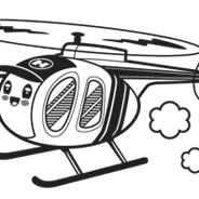 Copters wall decals for nursery room