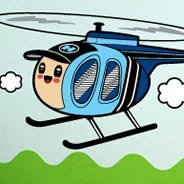 Helicopter vinyl wall stickers by Charuca