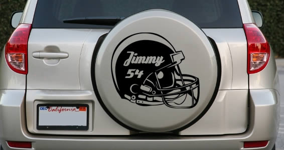 Custom Football Helmet decal