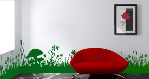 Vinyl wall art decal high resolution images