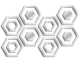 Hexagon acrylic wall mirror