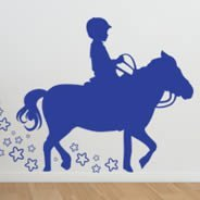 His Pony Love wall decal