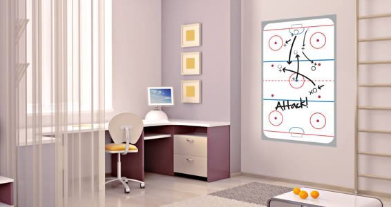 ... Ice Hockey Rink Dry Erase Wall Decal