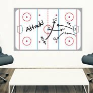 Ice Hockey Rink Dry Erase wall decal