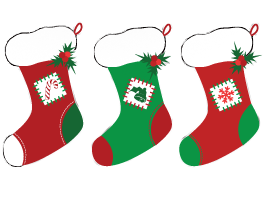 Holiday Socks wall decals