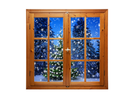 Holiday Snow Tree Faux Window Murals