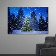 Holiday Trees wall canvas