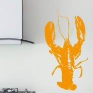 Pinch me! lobster removeable wall decals